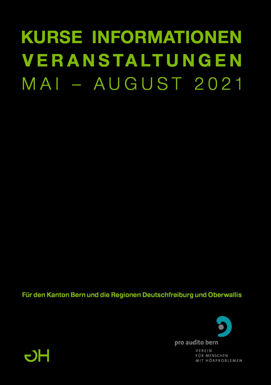 Kursprogramm Mai - August 2021