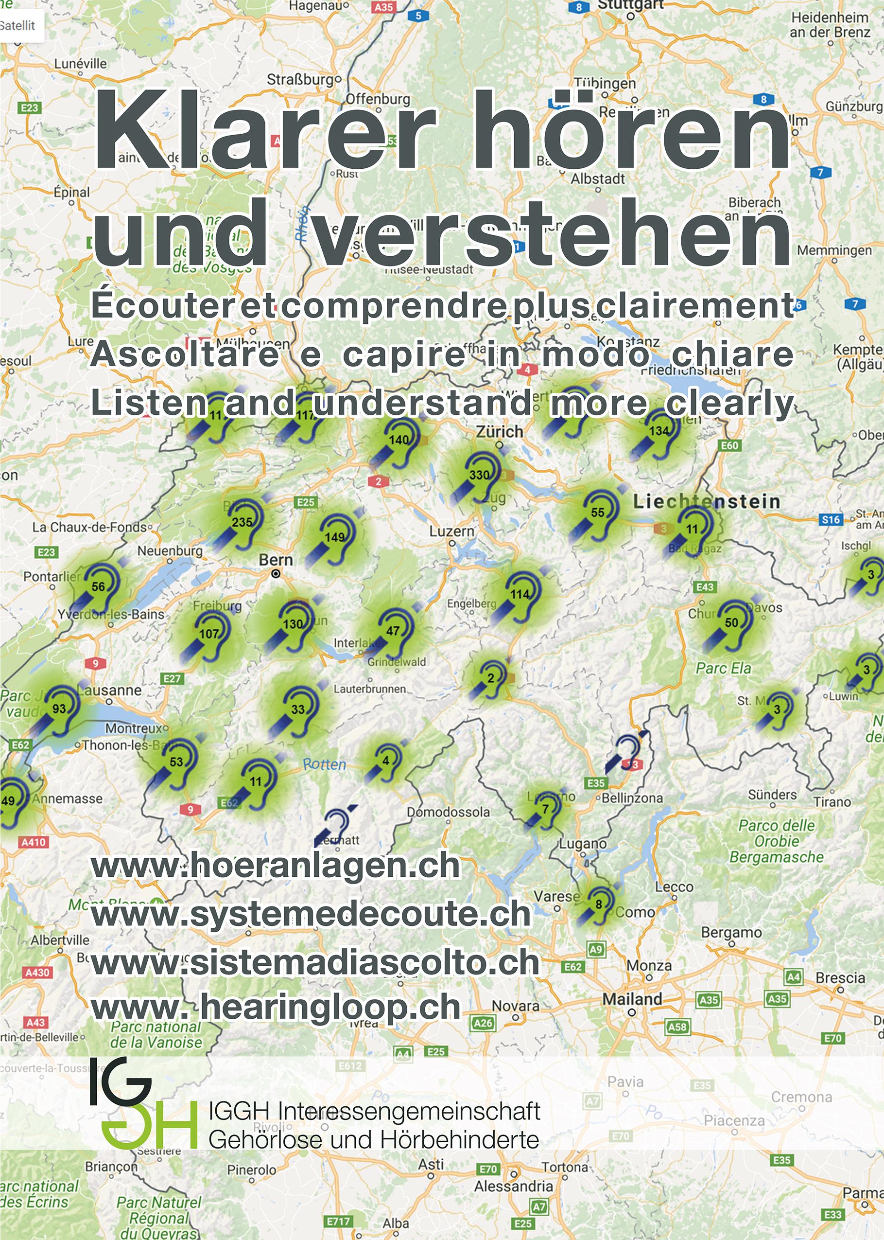 Titelbild Flyer Höranlagenverzeichnis